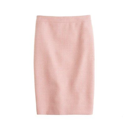 Light pink pencil skirt, color-yes, but so soft and feminine.  Pair with any of the blouses!