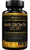 Hair Growth Vitamins Supplement for Longer, Stronger, Healthy Hair - Quickly Targets Hair Loss & Vitamin Deficiencies for Men & Women - All Natural Formula w/ Biotin for Hair Growth - 60 Capsules