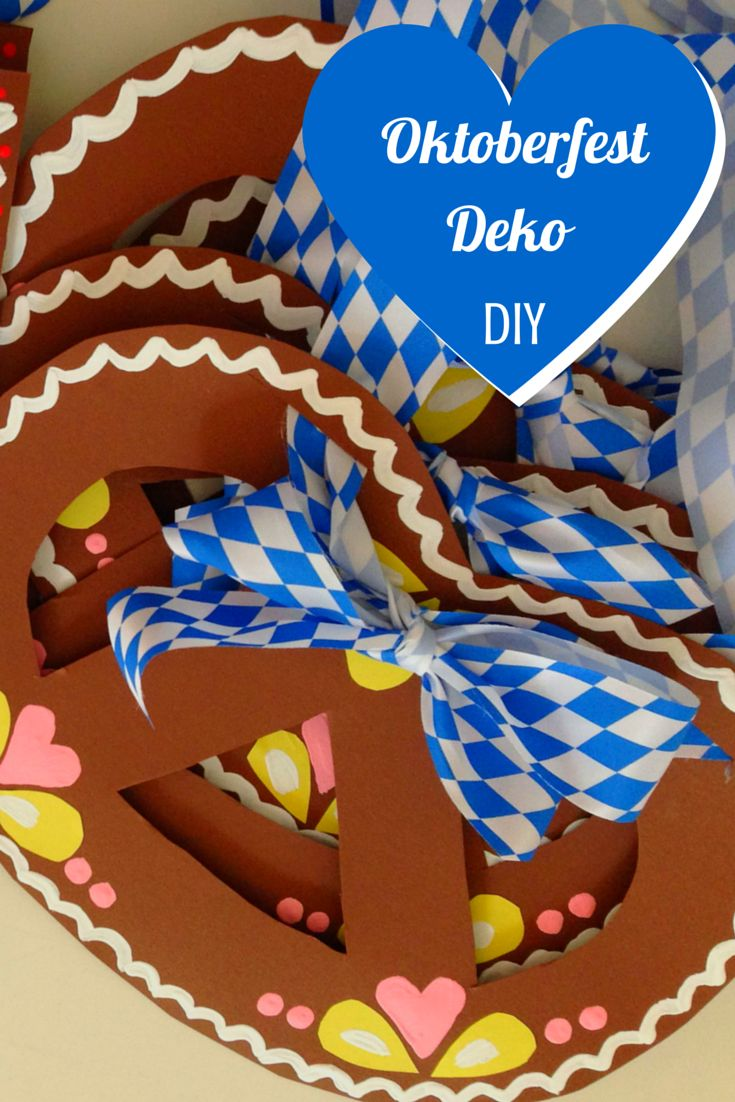Oktoberfest Deko selbermachen - ganz einfach nur mit Papier und Farbe!