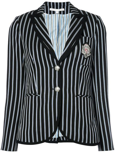 VERONICA BEARD Patch Striped Blazer. #veronicabeard #cloth #blazer