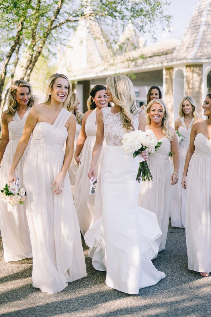 13 best wedding bridesmaid dresses images on pinterest love the neutral bridesmaid dresses ombrellifo Gallery