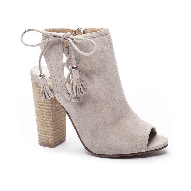 Kristin Cavallari Legend Peep Toe Bootie Grey
