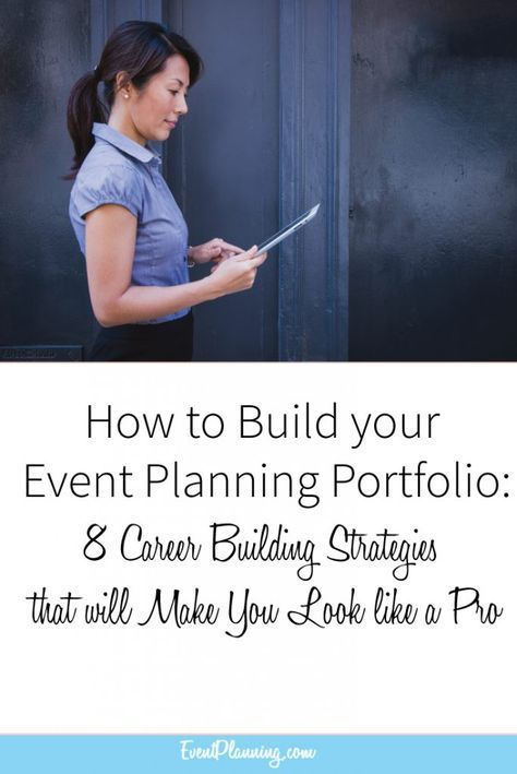 How to Build Your Event Planning Portfolio / Event Planning Career / Event Planning Tips / Event Planning Courses