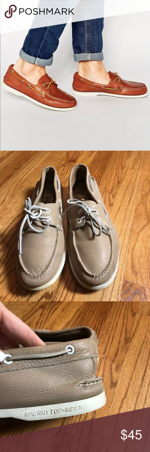 🔥sale🔥Sperry top-sider mens boat shoes Sperry top-sider men's leather slip ons buttery soft leather still great condition gently used Sperry Top-Sider Shoes Loafers & Slip-Ons