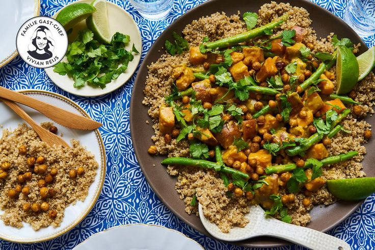 Viv's zoete aardappelcurry met quinoa