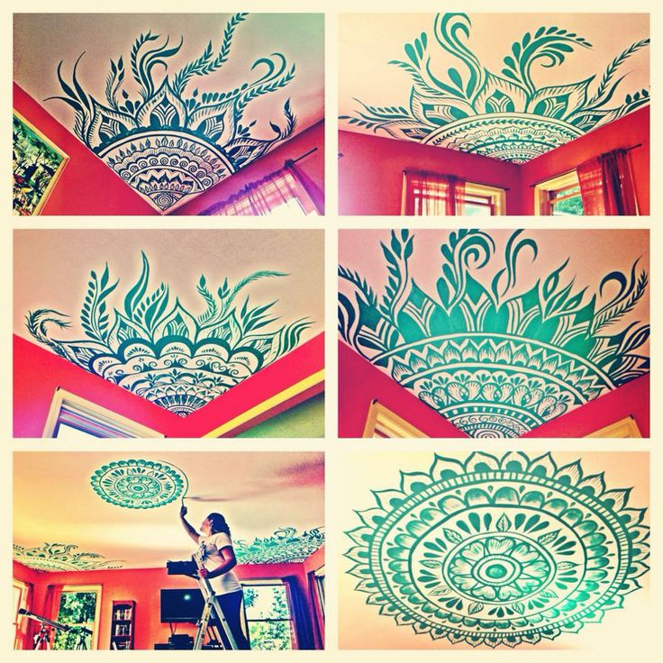 Mary Schmaling's ceiling art! Fantastic!!
