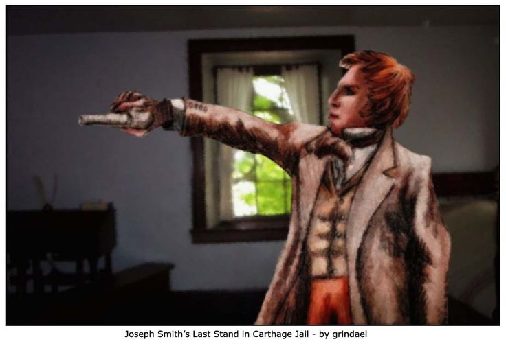 Joseph Smith's Last Stand in Carthage Jail - by Grindael