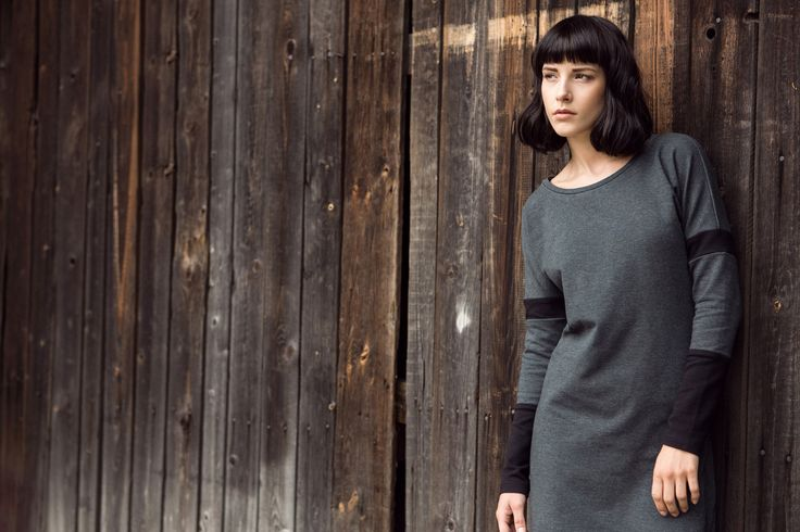 Knitted dress, grey&black. #basic #fw2014/15 #kamilagronner