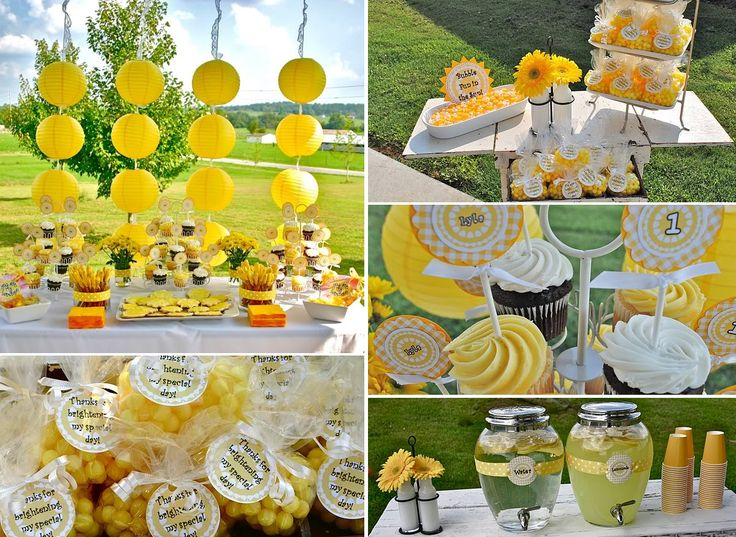 sunflower party theme party ideas party favors parties party decorations party snacks summer parties summer birthday party outdoor party ideas