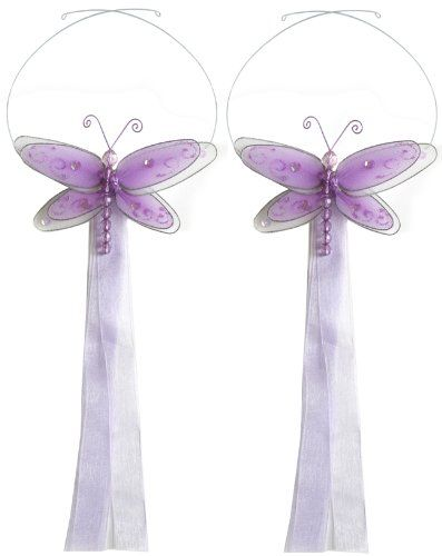 Dragonfly Tiebacks Purple (Lavender) Multi-Layered Nylon Dragonflies Tieback Pair / Set Decorations. Window Treatment Curtains Holdbacks, Sheer Holder, Drapery Tie Back Holders, Hold Back Tie Backs. Decorate a Baby Nursery Bedroom, Girls Room Kids Decor, Girl Bathroom, Kid Curtain, Child Drapes, Children Holdback, Birthday Party, Home Decoration, DIY Bugs-n-Blooms http://www.amazon.com/dp/B000XJSK8M/ref=cm_sw_r_pi_dp_1tYHvb0AHGPX1