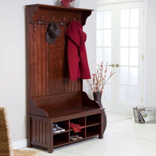 Front Door Bench With Storage: 17 Best Images About Hall Trees With Bench On Pinterest