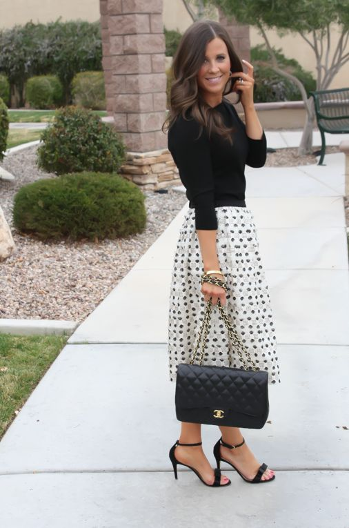 Love this dot skirt from J.Crew Collection