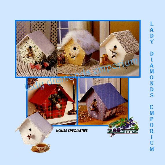 Mccalls 6776 Birdhouses In 6 Variations Fabric Amp Mat Board