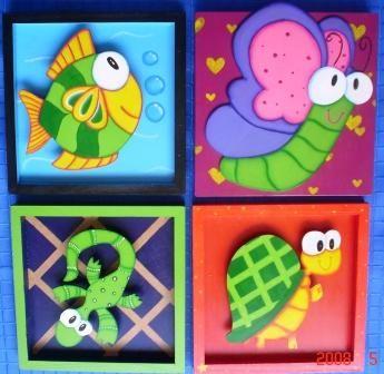 Cuadros infantiles 20 x 20   Cuadro en relieve 30 x 60     Cuadro en relieve sin marco 40 x 60