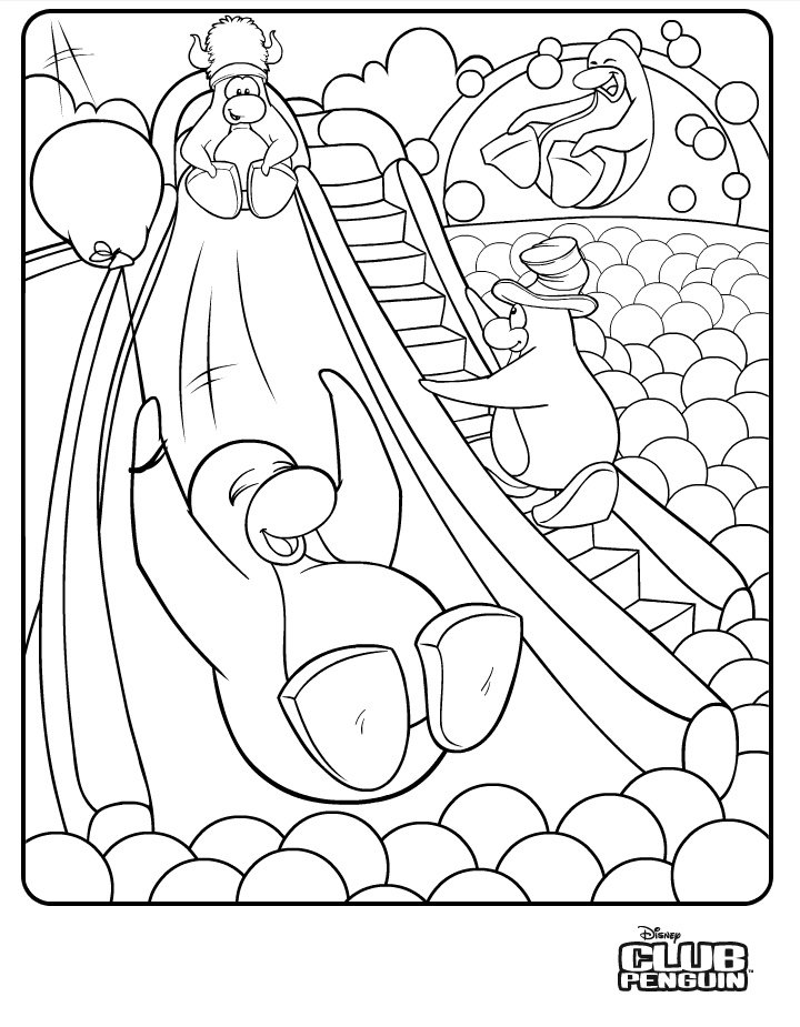 Coloring Page Download Club Penguin Penguin coloring