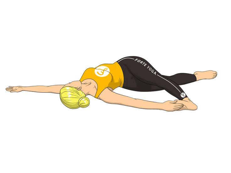 One Leg Revolved Belly Yoga Pose