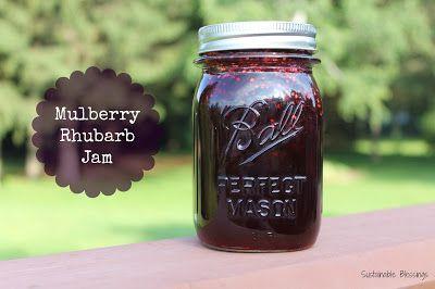 Mulberry - Rhubarb Jam Recipe! Delicious!