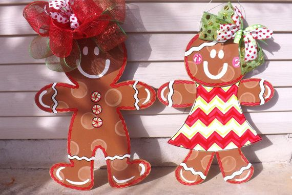 Gingerbread Boy & Girl Combo Gingerbread Man by BluePickleDesigns, $85.00