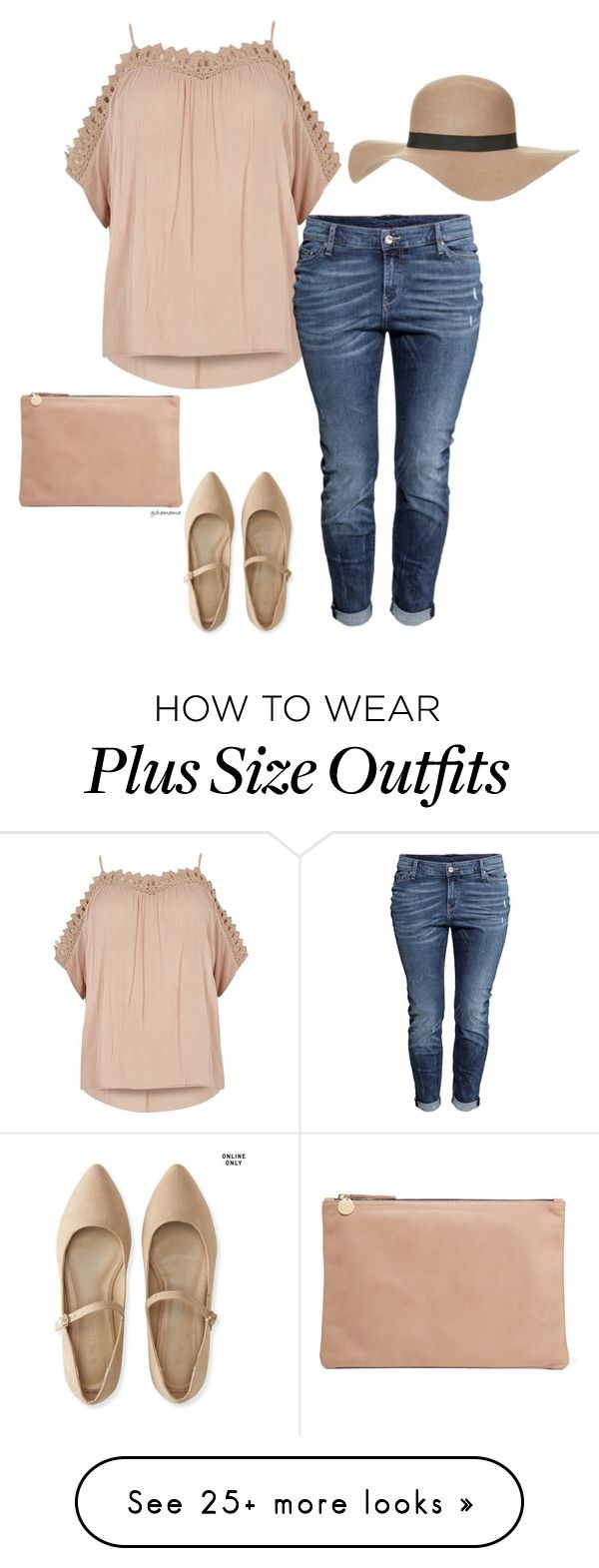 """Calm down- plus size"" by gchamama on Polyvore featuring River Island, H&M, Aéropostale, Clare V. and Topshop"