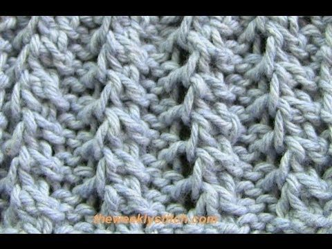 Knitting Fancy Rib Stitches : Feather Rib knitting ~ stitch.library Pinterest