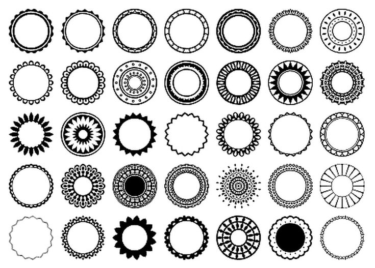 Free Circular Border Shapes for Photoshop and Elements: Circular Design Custom Shape Set 5