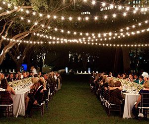 Industrial Outdoor String Lights: Commercial C9 String Lights & Bulbs - Cafe lighting for wedding reception  dinner,Lighting
