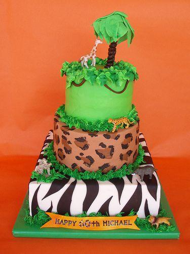 Animal Print Safari Cake