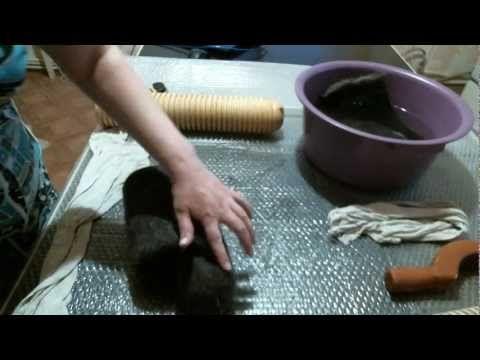 Валяем валенки часть 3 (головка) - YouTube