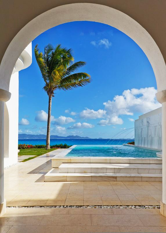 .: Beach House, Dream, Picturesque Pools, Outdoor, Beautiful Places, Beaches Travel, White Beaches, Poolsides Bathrooms