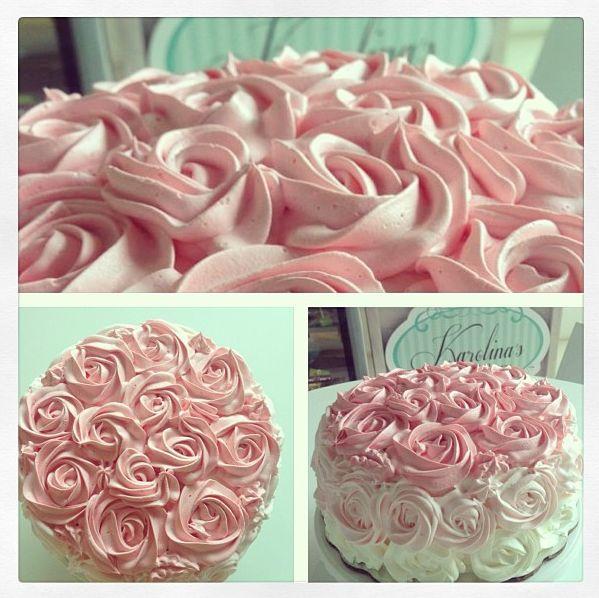 #Pastel de rosas #roses #cake