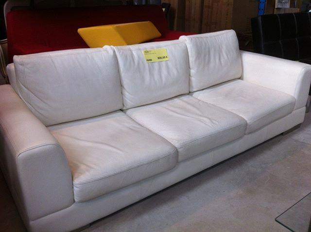 Canape En Cuir Blanc Home Spirit A 800eur Canape Blanc Cuir Canape Cuir Cuir Blanc