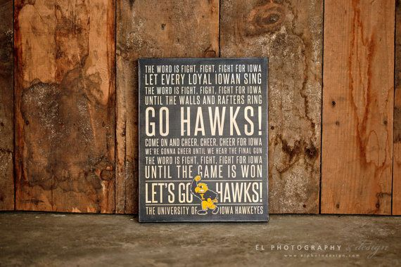 24x36 Custom Designed Iowa Fight Song Subway Sign by ELPhotoDesign