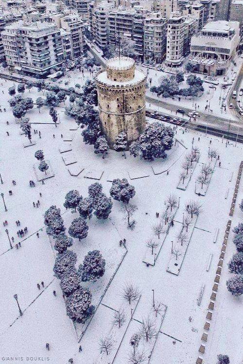Aerial view of White Thessaloniki, Greece | by @giannis_bouklis