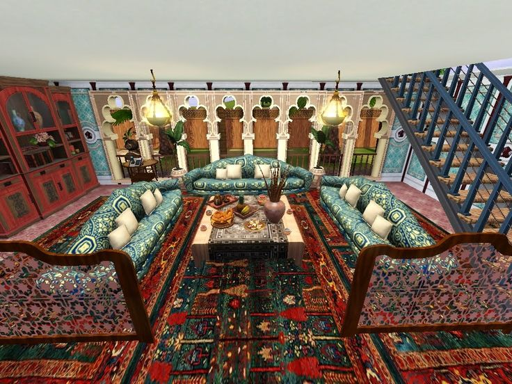 Great Arabic Style Rooms | Living Room With Big Sofas For Lot Of Guests Or Big  Family Part 14