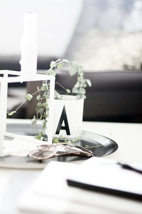 Design Letters A Cup with typography by Arne Jacobsen. Minimalistic, Interior.