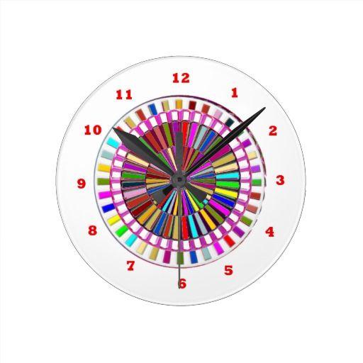 BEAUTY : Moving Wheel Chakra with ENERGY Round Wallclock