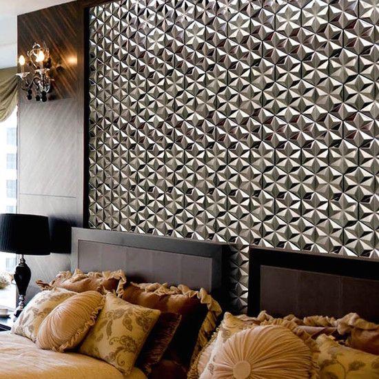装飾モザイクタイル「Hexagon mosaic tile Silver」施工例