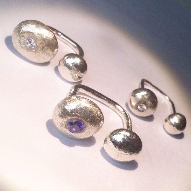 Ringar , silver med Kubic Zirkonia Handgjorda. Egen design 395kr/st