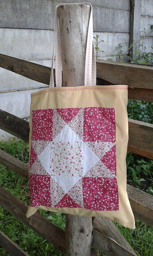 lienka97 / Nákupná taška s patchworkovou aplikáciou 7