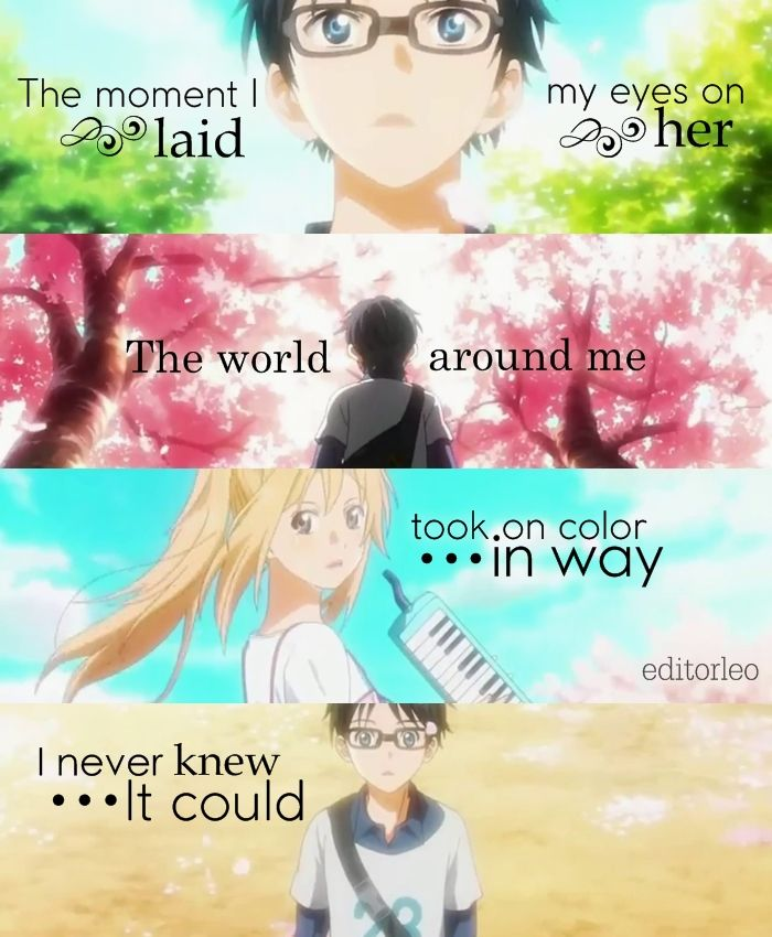 Your Lie In April April Feels Anime Quotes Quotes Your Lie