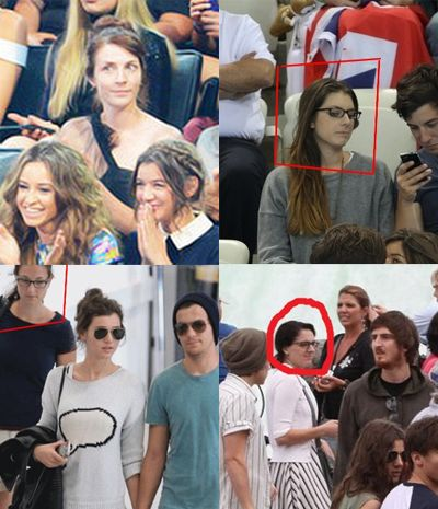 SHE'S EVERYWHEREEEE O_O EVEN AT THE VMAs today SO CREEPY and look at the bottom right picture. Thays the one where Liam had to dress up as Eleanor cause she was apparently sick.