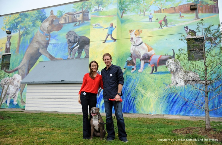 """Chase Utley and his wife Jennifer Utley continue to take a stand against animal abuse! On Sept. 27th, they dedicated their  2nd Annual """"Be Kind to Animals"""" themed mural, presented by the City of Philadelphia Mural Arts Program and the Utley Foundation. The mural, which promotes the proper care and treatment of animals, is located at McVeigh Recreation Center in Philadelphia"""