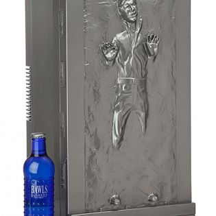 Han Solo Fridge: Shopping Nexus: Gifts. When Princess Leia disguised herself as Boushh in order to crack open a frosty one, she wasn't looking for a drink. Her tall, cold one that day happened to be none other than Han Solo himself.