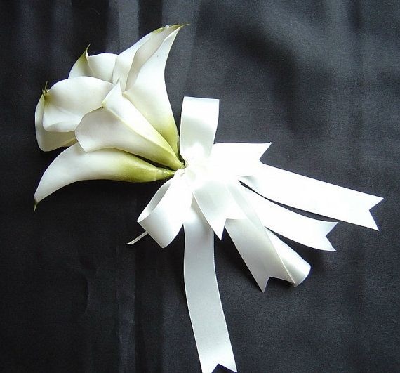 White Calla Lily Bridal Bouquet Pink Calla Lily by shannonkristina, $45.00