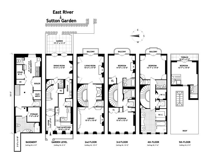 102 best images about townhouse floor plans on pinterest for New york house plans