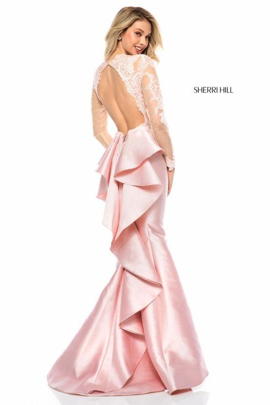 139a03d35275f 51606 Grad Dresses, Prom Dresses With Sleeves, Sherri Hill Prom Dresses,  Pink Prom
