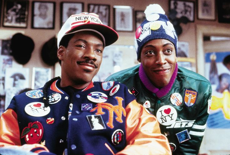 """Coming To America"" movie still, 1988.  L to R: Eddie Murphy, Arsenio Hall."