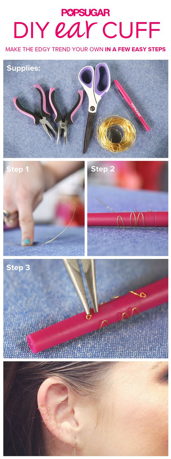 Make your own DIY ear cuff with our easy new tutorial!