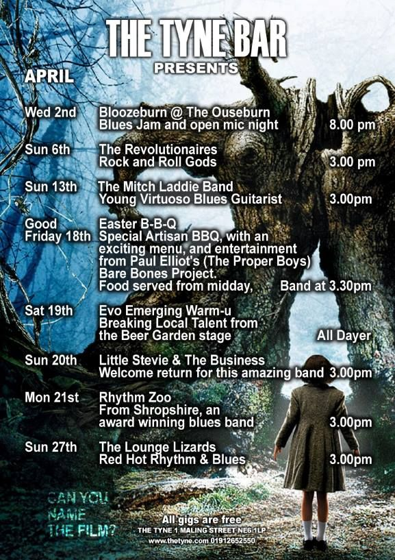 Tyne Bar gigs in April 2014