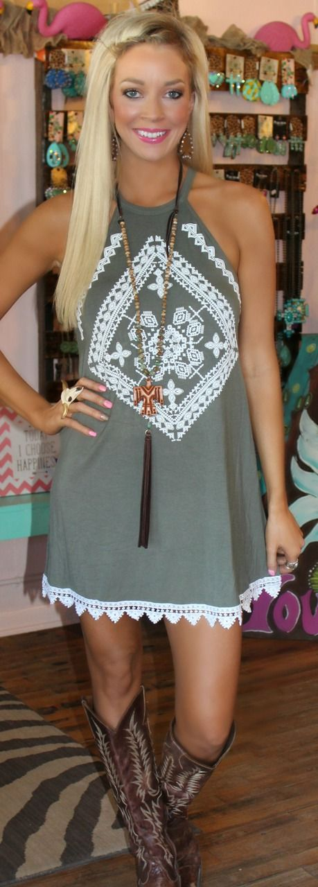 """""""Meant For You"""" Embroidered Dress - The Lace Cactus"""